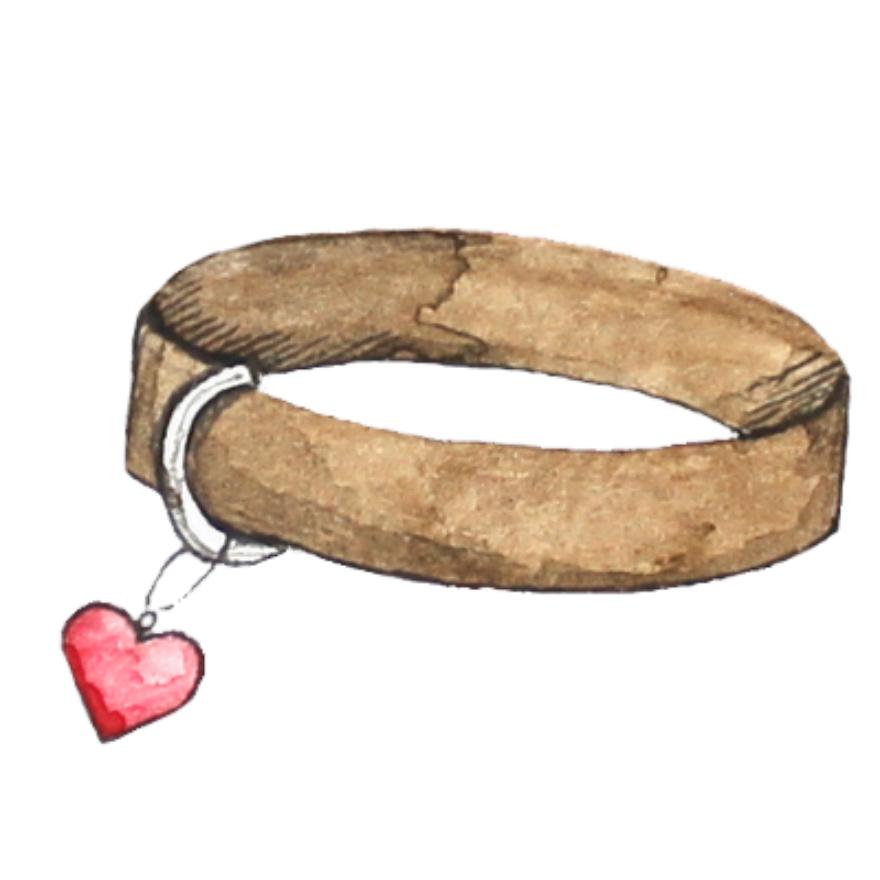 Halsband Herz_weißer Hintergrund_Aram und Abra